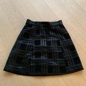 H&M black check mini skirt